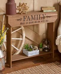 Farmhouse Centiment Console Tables Western Rustic Home Decor Outdoor Patio Gift $70.00