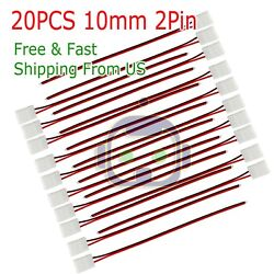 20PCS 10mm 2 Pin Single Connector Adapter cable For 5630 5050 LED Strip Light $3.95