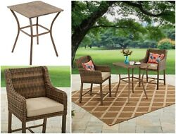 WICKER 3-Piece High BISTRO SET Outdoor Patio Garden Furniture Comfortable Style