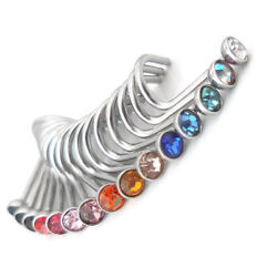 15 PC Lot 20G Stainless Steel 2.5mm Crystal Nose Screws Comfort Rings Studs New $5.49