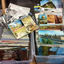 2000 FOREIGN POSTCARDS  LARGE LOT  1950's-1980s MIXED TOPICS & COUNTRYS #33