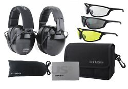 TITUS B4 Hearing Protection Shooting Gun Range ANSI OSHA Noise Reduction Earmuff