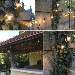 G40 Clear Outdoor Patio Globe String Lights (100' 50' and 25' Lengths)