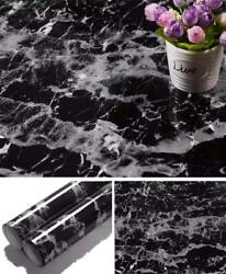 Black Marble Contact Paper Granite Wallpaper Self Adhesive Counter Top Liner $10.99