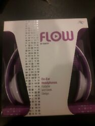 FLOW By Sentey Foldable Over Ear Headphones with Microphone (Purple) Headband $9.99