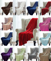 Super Soft Light Weight Coral Fleece Warm Throw Blanket for Couch Sofa Bed Chair $12.97