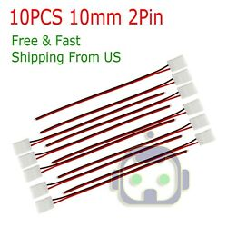 10PCS 2 Pin Connector Cable To DC Female Power for 3528 2835 LED Strip Light $3.25