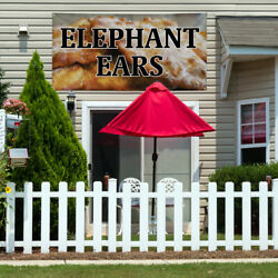 Vinyl Banner Sign Elephant Ears #1  Style B Outdoor Marketing Advertising Brown