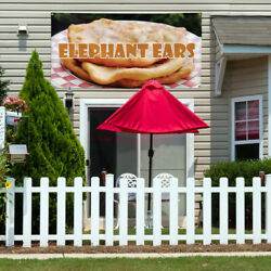 Vinyl Banner Sign Elephant Ears #1  Style F Bread Marketing Advertising Brown