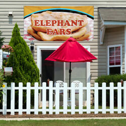 Vinyl Banner Sign Elephant Ears #1  Style C Outdoor Marketing Advertising brown