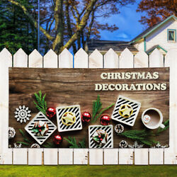 Vinyl Banner Sign Christmas Decorations #1  Style B Marketing Advertising Brown