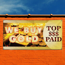 Vinyl Banner Sign We Buy Gold Business Style A Marketing Advertising Yellow