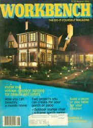 1985 Workbench Magazine: Low Voltage Outdoor Lightning Build a Picnic Table