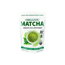 USDA Certified Organic Matcha Green Tea Powder 1 LB Bag $15.99