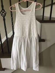 Old Navy Girls White Dress Size M 8 **EEUC** $10.00