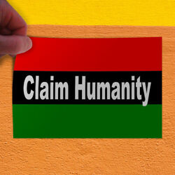 Decal Sticker Claim Humanity Flag Lifestyle Claim Humanity Outdoor Store Sign