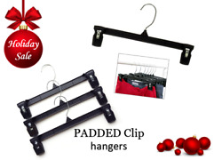 Clothes Hangers PADDED CLIPS MAINETTI 12quot; for pants 6212 100Qty *SALE 50% off $26.50