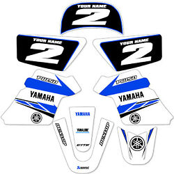 YAMAHA PW 50 PW50  GRAPHICS KIT DECALS DECO Fits Years 1990 - 2018 White