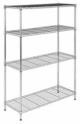 happimess HPM5024B Scout 35-716 Inch Wide Steel Storage Rack with Four Tier She