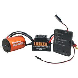 Waterproof 3650 4300KV Brushless Motor w 60A ESC Combo Set for 1 10 RC Car W9M5 $38.99