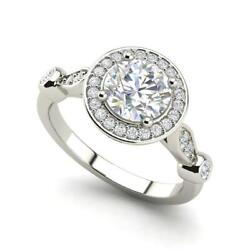 Halo Solitaire 2.95 Carat VVS2F Round Cut Diamond Engagement Ring White Gold