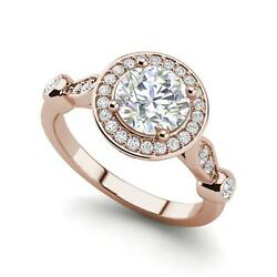 Halo Solitaire 2.95 Carat VVS2F Round Cut Diamond Engagement Ring Rose Gold