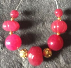 Genuine Earth Mined RUBY beads 3.5 to 10mm Carved Faceted gemstone #155H LK!