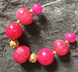 Genuine Earth Mined RUBY beads 3.5 to 10mm Carved Faceted gemstone #155i LK!