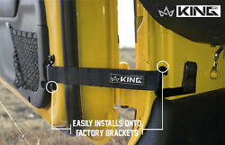 King 4WD Heavy Duty Adjustable Door Straps Solid In Pairs for All Jeep $7.99