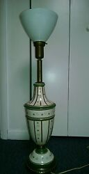 Antique LAMP 1940s very beautiful glass $45.00