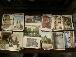 LOT OF 50 + VINTAGE & ANTIQUE POSTCARDS 1900s -1970s ***  USED  UNUSED  USA