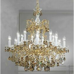 Classic Madrid Imperial 18 Lt Chandelier Old Bronze Gold Teak - 5548OWBSGT