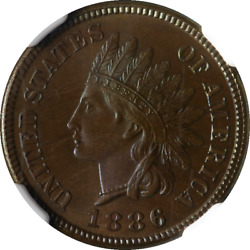 1886 Ty 1 Indian Cent Proof NGC PF67BN CAC Sticker Superb Eye Appeal