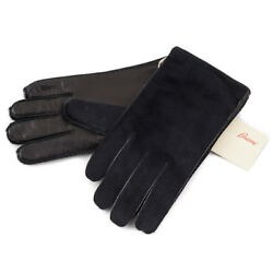 New $950 BRIONI Ponyhair and Leather Gloves with Cashmere Lining 9 (M)