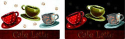 Clear Plastic Placemats Textured Set of 4 Coffee Cups Cafe Latte Kitchen Theme $15.00