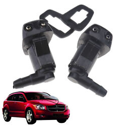Pair Front Windshield Washer Sprayer Nozzle Universal fit Car Vehicle Truck