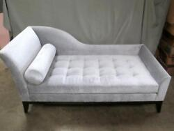 New LILY JACK Noir Tufted Light Silver-Gray Chaise Lounge MPN N7236
