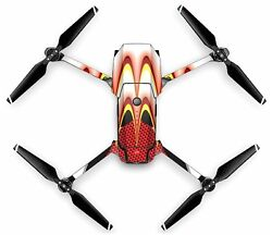 Wrap Skin For DJI MAVIC PRO Quadcopter Drone Red Yellow Carbon $19.99