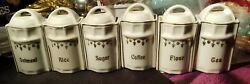 German Doll's Canister Set rare oil viniger spices salt.box Germany 15 pc