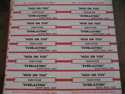 Jukebox Star Title Strip Full Sheet SURVIVOR High On You Everlasting