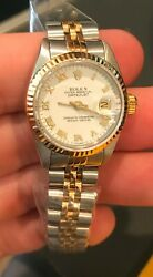 ROLEX NIB White Oyster Perpetual 114200 34MM Oyster Band C.2019