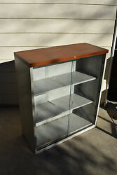 Trophy Glass Display Cabinet Wall Office Show Lab Case Bookcase Industrial $399.99