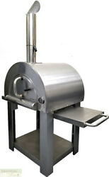 PIZZA OVEN OUTDOOR WOOD FIRED BBQ Grill Stainless Steel Stone Brick Tool Kit New