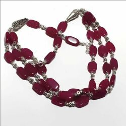 Ruby Ethnic Jewelry Handmade Necklace 60 Gms LN-41776