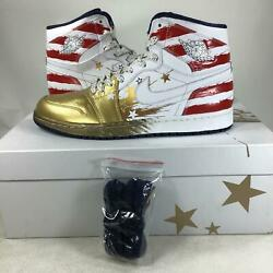 Rare Air Jordan Dave White Hand Painted Gold Wings For the Future PROMO SAMPLE