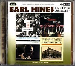 EARL HINES- Four Classic Albums Plus- 2 CD- A Monday DateEarl's Pearls (4on1)
