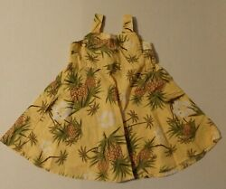 Gymboree Girls 18-24 mos Vintage Tropical Pineapple Dress Aloha Luau Cotton