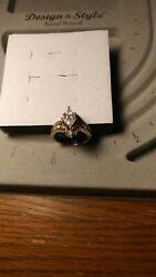 3.11 Carat Diad Ring In 14kt Yellow And White Gold
