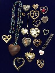 VTG to NOW Jewelry Lot Figural Pins Brooches Heart BEST LIZ CLAIBORNE AVON C.