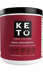 Perfect Keto Nootropic Brain Supplement Mental Clarity  Concentration Men Women